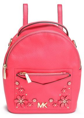 MICHAEL Michael Kors Floral-appliqued Textured-leather Backpack