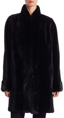 Zandra Rhodes For The Fur Salon Reversible Sheared Mink Jacket