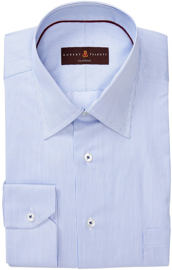 Robert Talbott Classic Fit Stripe Dress Shirt