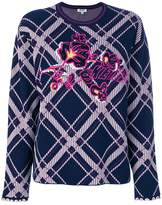 Kenzo checkered sweater with logo