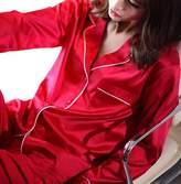 Ur-fashion Womens Silk Satin Pajamas Set Sleepwear Loungewear