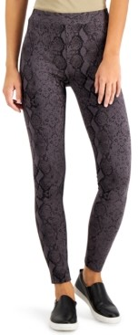 Style&Co. Style & Co Snake-Print Pull-On Legging, Created for Macy's
