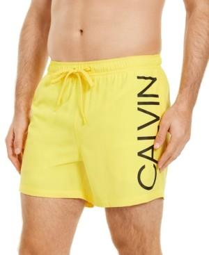 "Calvin Klein Men's Euro Stretch Logo 5 1/2"" Swim Trunks"