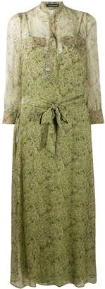 Luisa Cerano Tie Belt Shirt Dress
