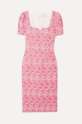 Rebecca Vallance Estelle Floral Brocade Dress - Pink