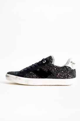 Zadig & Voltaire Zadig Used Glitter Sneakers