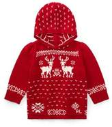 Ralph Lauren Baby Girl's Reindeer Zip-Back Sweater