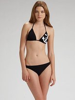 Graphic Sailcloth Triangle Bikini Top