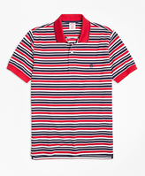 Brooks Brothers Slim Fit Americana Stripe Performance Polo Shirt