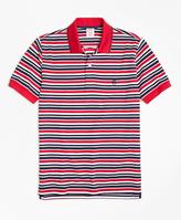 Brooks Brothers Slim Fit Americana Stripe Performance Polo Shirt
