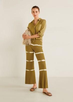 MANGO Denim style soft shirt khaki - 2 - Women