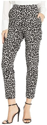 MICHAEL Michael Kors Cheetah Pull-On Trousers (Gunmetal) Women's Casual Pants