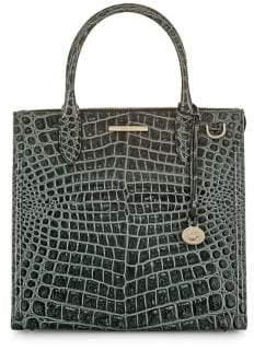 Brahmin Obsidian Veil Caroline Leather Satchel