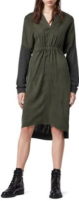 AllSaints Lorca Merino Wool Blend Long Sleeve Dress