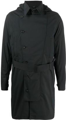 Norwegian Rain Belted Hooded Trench Coat