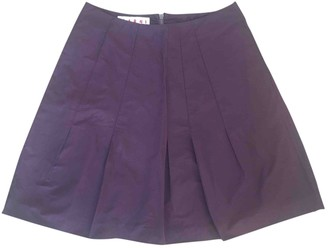 Marni Purple Silk Skirt for Women