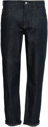 Victoria Victoria Beckham Cropped Mid-rise Straight-leg Jeans