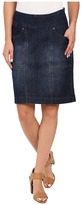Jag Jeans Janelle Pull-On Skirt Comfort Denim in Blue Shadow
