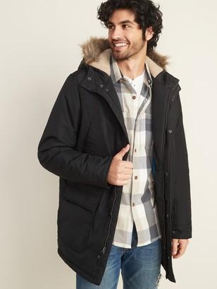 Old Navy Hooded Faux-Fur Trim Parka for Men