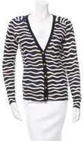 Tory Burch Striped Wool Cardigan