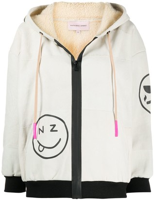 Natasha Zinko Shearling Hooded Sweatshirt