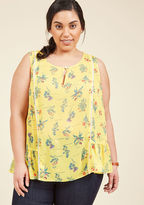 Brunch's Best Sleeveless Top in Floral in S