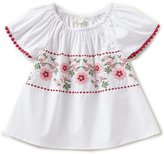 Copper Key Little Girls 4-6X Woven Floral-Embroidered Top