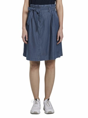 Tom Tailor Women's Denim Paperbag Skirt 10110-Blue 36