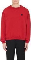 Acne Studios Men's Fint Face Cotton Fleece Sweatshirt