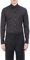 Lanvin Men's Spider-Print Fitted Shirt-BLACK, NO COLOR