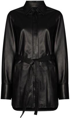 Joseph Jason belted leather shirt