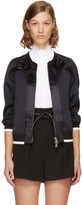 3.1 Phillip Lim Blue Ruffled Bomber Jacket