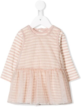 Aletta sparkly striped dress