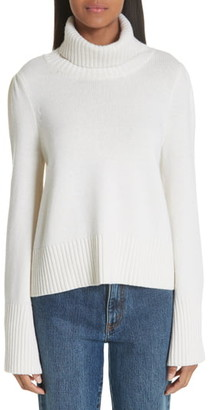 Co Essentials Flare Sleeve Wool & Cashmere Turtleneck Sweater