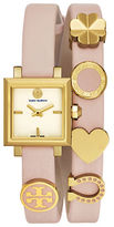 Tory Burch The Saucy Leather Strap Watch