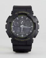 G-Shock G Shock Ga-100l-1aer Digital Silicone Watch In Black