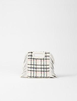 Maje Tweed mini M bag with chain