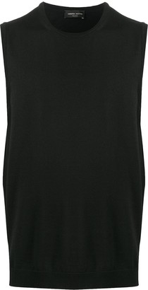 Roberto Collina Fine Knit Ribbed Edge Vest