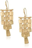 "Robert Lee Morris Set In Stone"" Square Chandelier Drop Earrings"