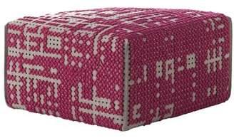 GAN RUGS Canevas Ottoman GAN RUGS Upholstery Color: Dark Pink - Dark Felt