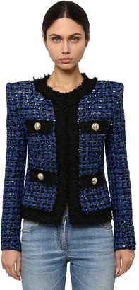 Balmain Embellished Techno Tweed Jacket