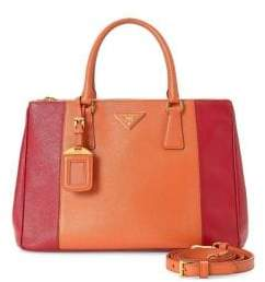 Prada Vintage Cannage Galleria Leather Top Handle Bag
