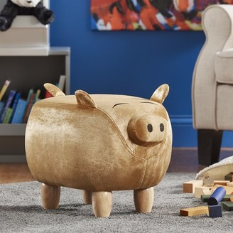 Weston Home Nieuwe Fabric Pig Ottoman, Multiple Colors