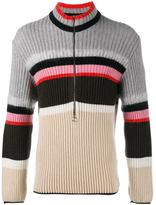 Helen Lawrence - striped half-zip jumper - men - Polyamide/Spandex/Elastane/Mohair/Lambs Wool - S
