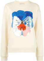 Christopher Kane sequin floral sweater - women - Cotton/Viscose - S