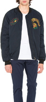 Scotch & Soda Quilted Embroidered Bomber Jacket