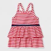 Cat & Jack Toddler Girls' Adaptive Stripe Tankini Swim Top Red