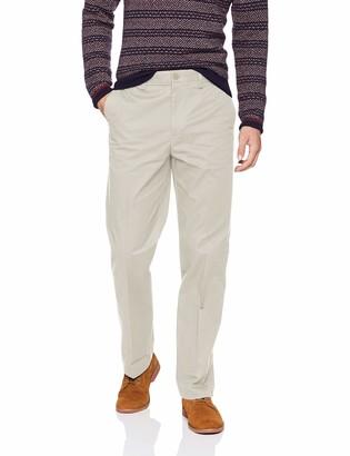 Savane Men's ECO-Start Flat-Front Dress Khaki Pant