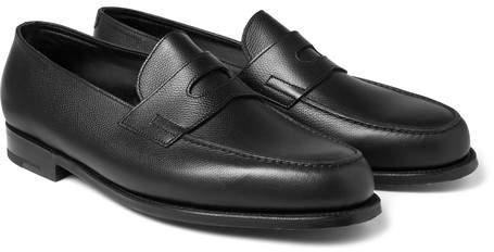 John Lobb Grained-Leather Penny Loafers - Men - Black