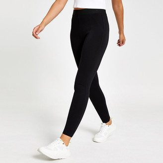 River Island Black elastic waist skinny leggings